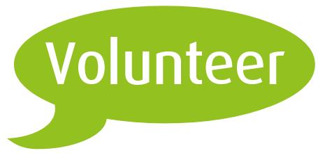 Volunteer speech balloon