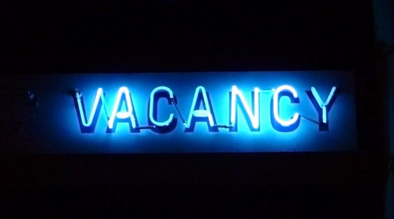 Vacancy, in neon lights