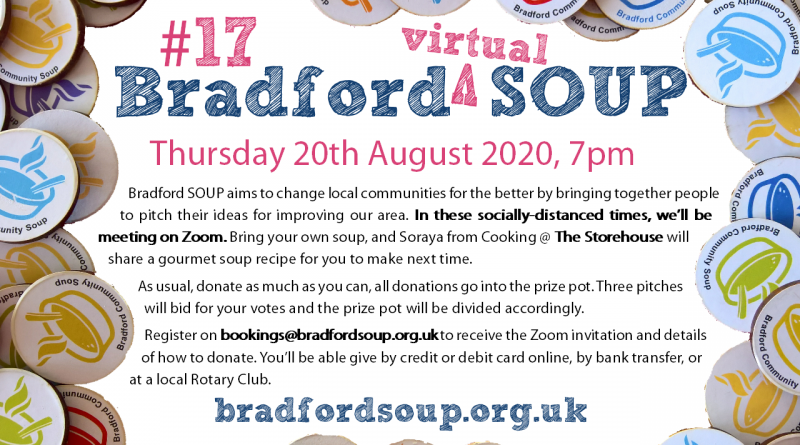 Flier for Bradford SOUP #17 event - text on page