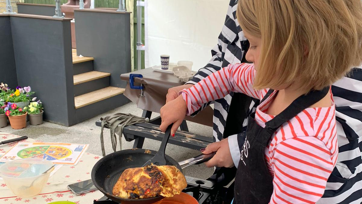 Making pancakes