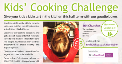 Kids' cooking challenge poster