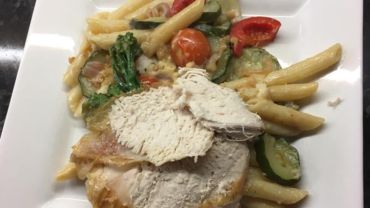 Roast Chicken Savoury Pasta