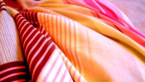 Brightly-coloured bedding