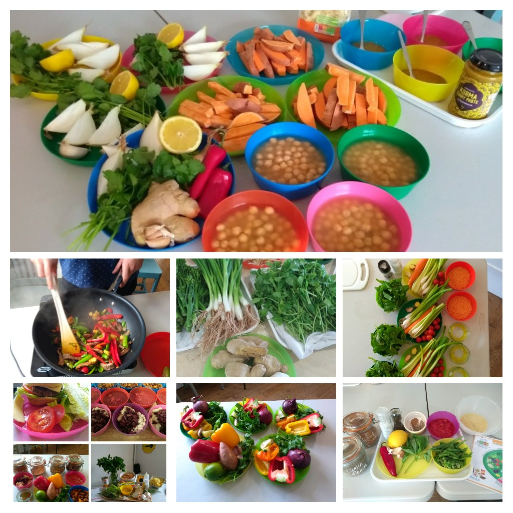Collage of food images